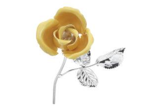 Rosa 11 cm bocciolo giallo