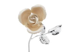 Rosa 11 cm bocciolo ecrù