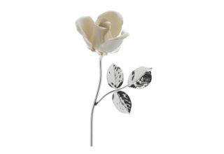 Rosa 11 cm bocciolo bianco