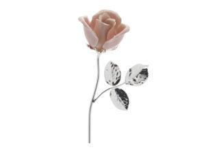 Rosa 11 cm bocciolo rosa