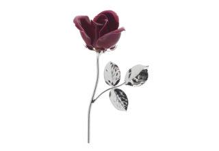 Rosa 11 cm bocciolo rosso