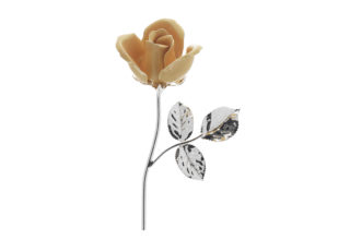 Rosa 11 cm bocciolo arancio