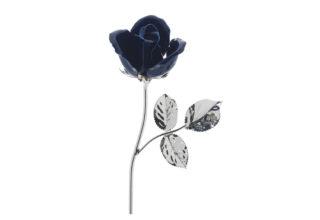 Rosa 11 cm bocciolo blu