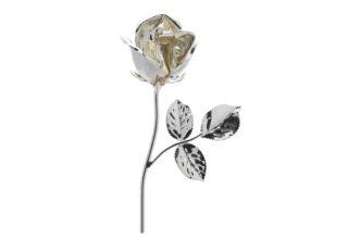 Rosa 11 cm bocciolo argento
