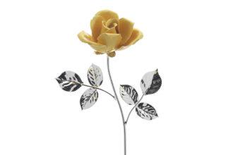 Rosa 14 cm bocciolo giallo