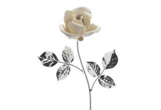 Rosa 14 cm bocciolo bianco