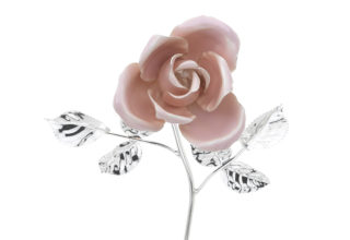 Rosa 14 cm bocciolo rosa