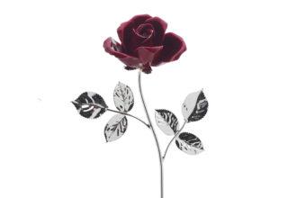 Rosa 14 cm bocciolo rosso