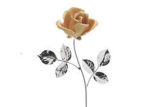 Rosa 14 cm bocciolo arancio