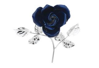 Rosa 14 cm bocciolo blu
