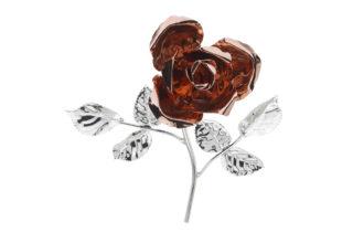 Rosa 14 cm bocciolo rosè