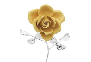 Rosa 17 cm bocciolo giallo