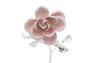 Rosa 17 cm bocciolo rosa