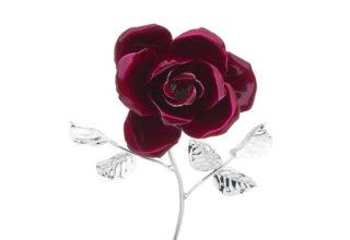 Rosa 17 cm bocciolo rosso