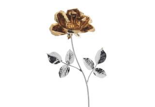 Rosa 17 cm bocciolo oro