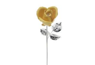 Rosa 20 cm bocciolo giallo