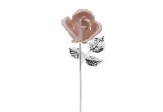 Rosa 20 cm bocciolo rosa