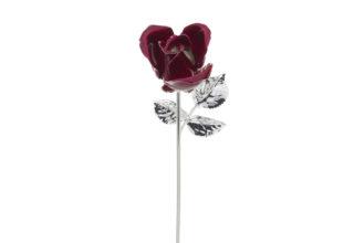 Rosa 20 cm bocciolo rosso