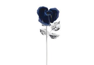 Rosa 20 cm bocciolo blu